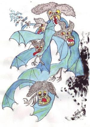 bats in blue